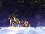 Santa Flight 3D screensaver screenshot. Click to enlarge