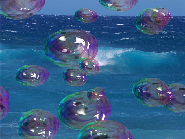 Amazing soap bubbles slide on top of your PC desktop shining with all the rainbo Screen Shot