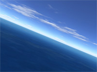 Flight over sea 3D screensaver screenshot. Click to enlarge