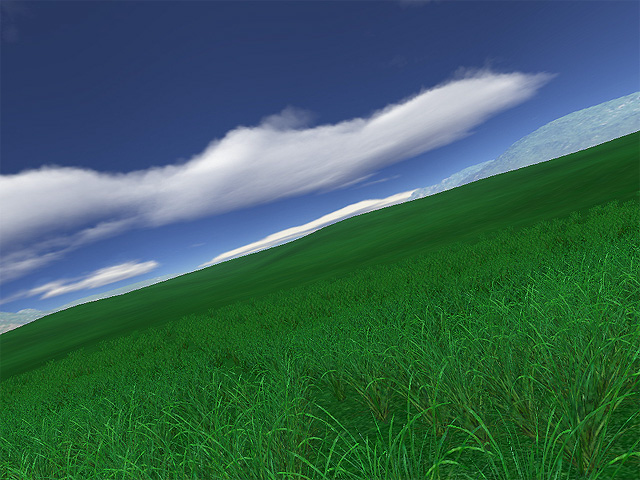 Screenshot of Green Fields 3D screensaver