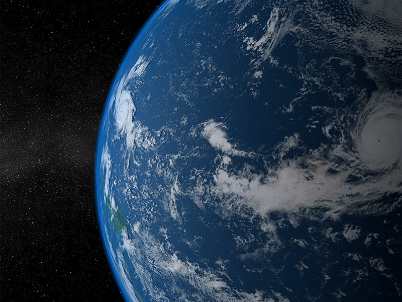 Solar System - Earth 3D screensaver shows what our planet looks like from space Screen Shot