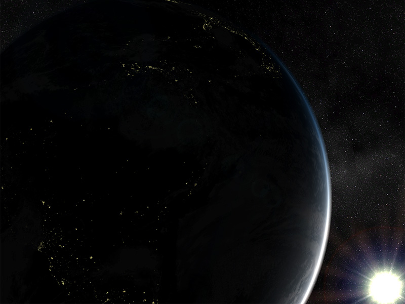 Solar System - Earth 3D Screensaver