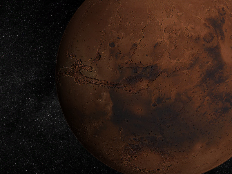 The most beautiful 3D rendering of Mars