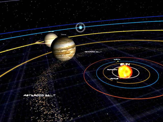 solar system of 3 d-#27